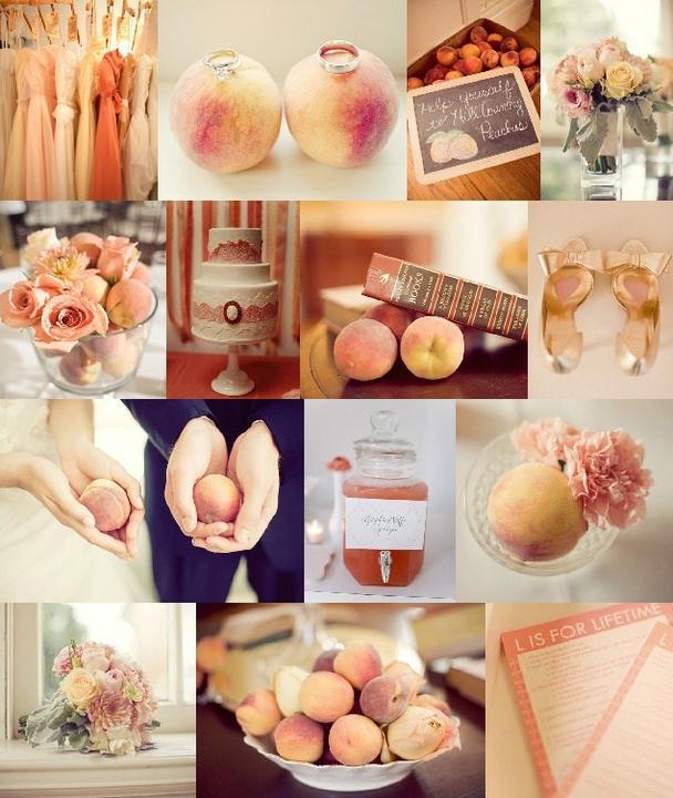 MY wedding in peony and peach - nemá chybu...broskve chybět nebudou...