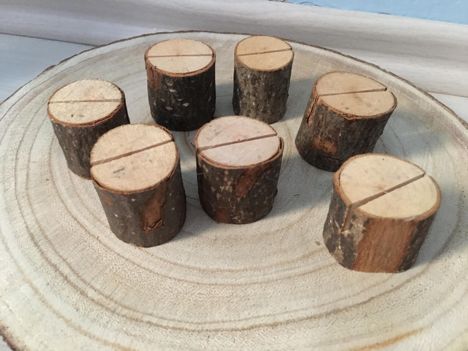 Drevene drziaky na svadobne menu 7 ks - Obrázok č. 1
