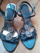 Strieborné sandále, 37