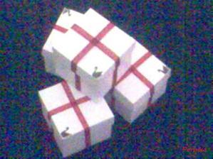 hotové krabičky na dárečky