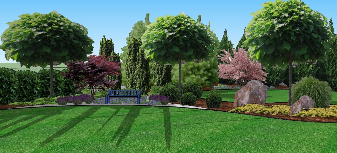 3D navrh zahradky - minimum kvetov