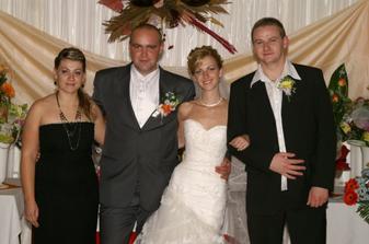 prvá družička Ivanna a jej polovica Tomáš