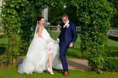 luxusní svatební šaty pronovias jednou nošené, 36