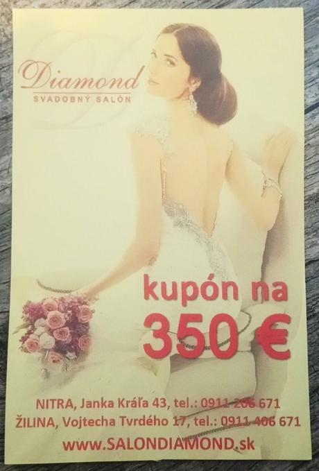 Voucher na zapožičanie svad. šiat v hodnote 350E - Obrázok č. 1