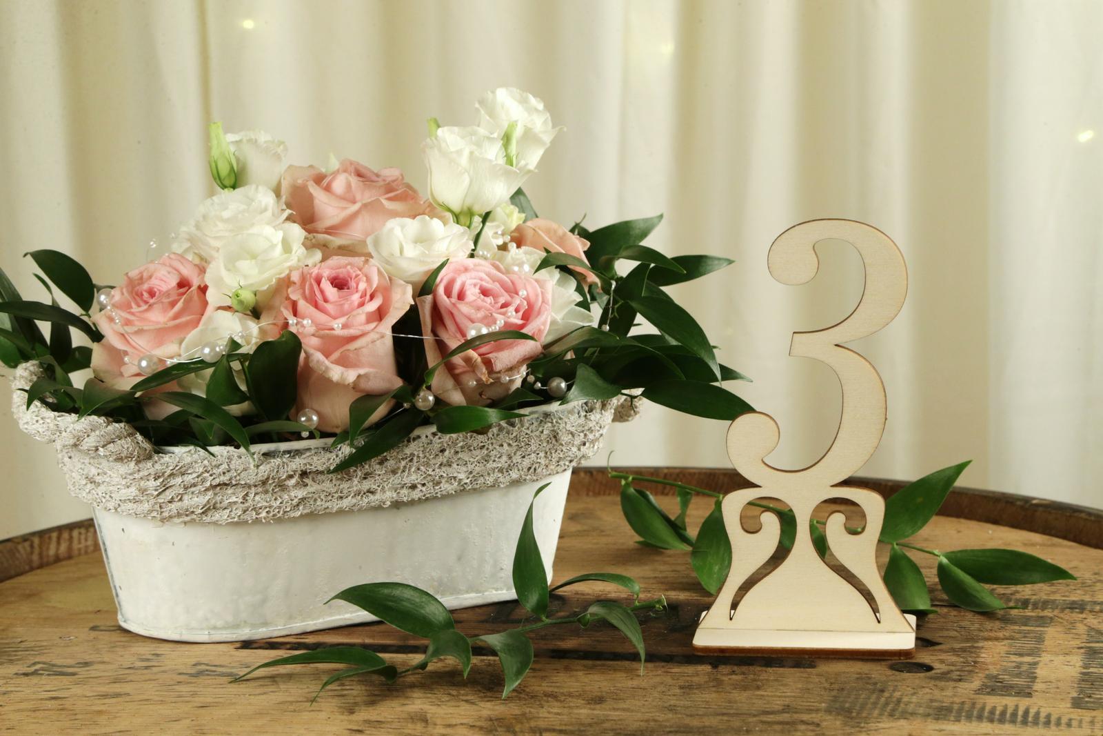 Drevené čísla na stôl - Obrázok č. 1