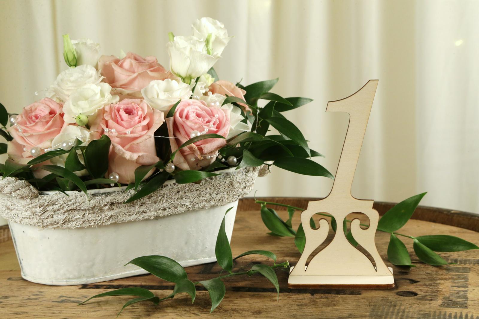Drevené čísla na stôl - Obrázok č. 3