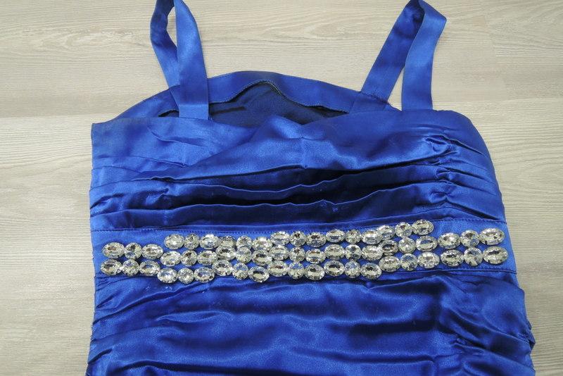 Modré šaty šité na mieru - Obrázok č. 2