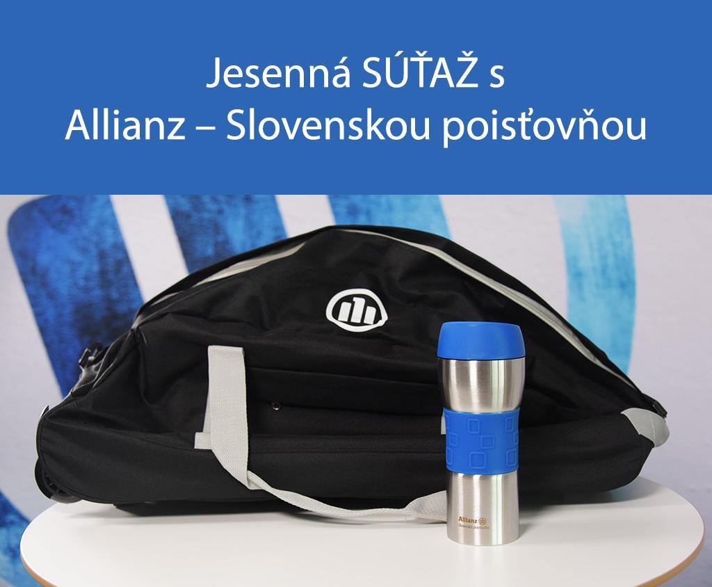 Aktuálne vo fóre prebieha SÚŤAŽ s Allianz - Slovenskou poisťovňou. Zapojte sa a traja z vás vyhrajú praktickú cestovnú tašku alebo kvalitnú nerezovú termosku :) Stačí si tipnúť odpoveď na súťažnú otázku TU: https://www.modrastrecha.sk/forum/sutaz/jesenna-sutaz-s-allianz-slovenskou-poistovnou-2/ - Obrázok č. 1