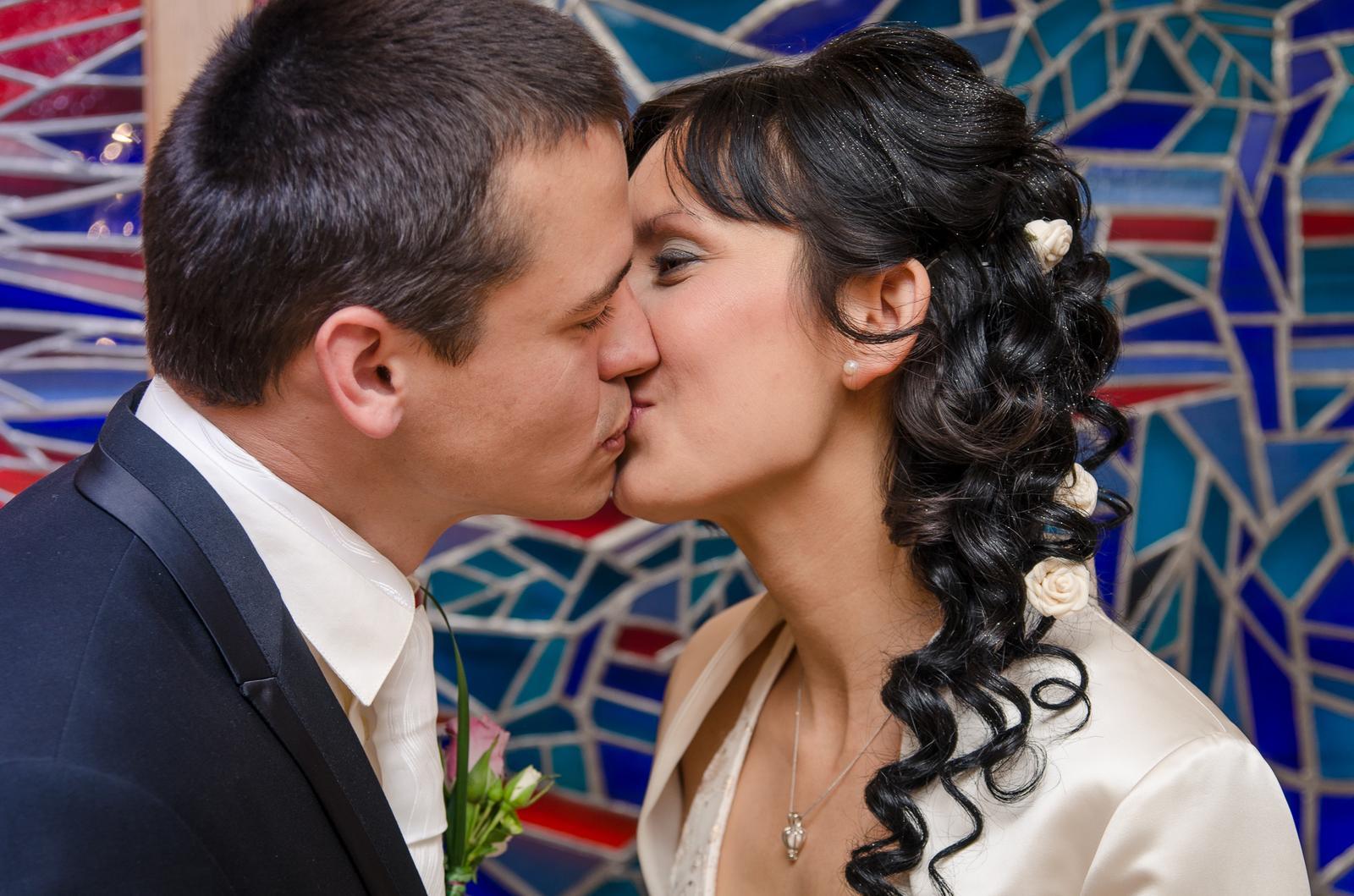 Markéta Nováčková{{_AND_}}Marek - První novomanželský polibek na ,, třetí pokus,, :-)
