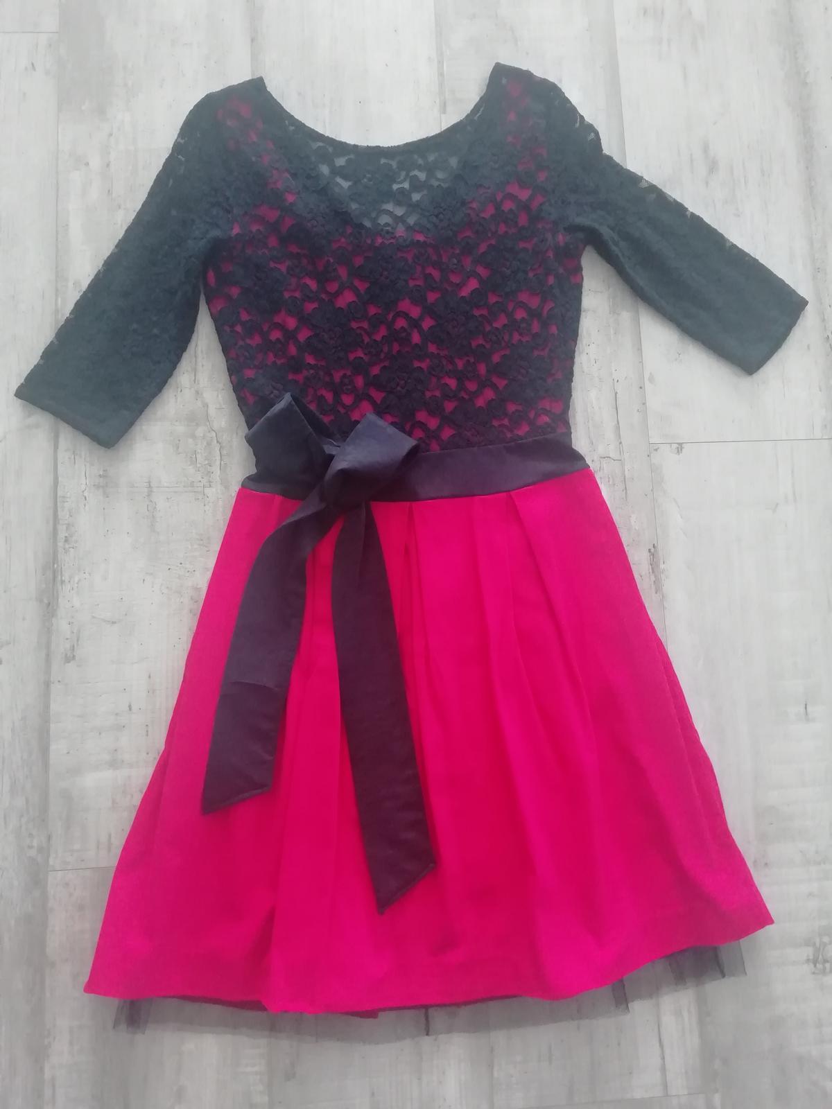 Čipkované krátke spoločenské šaty, veľ.S - Obrázok č. 1