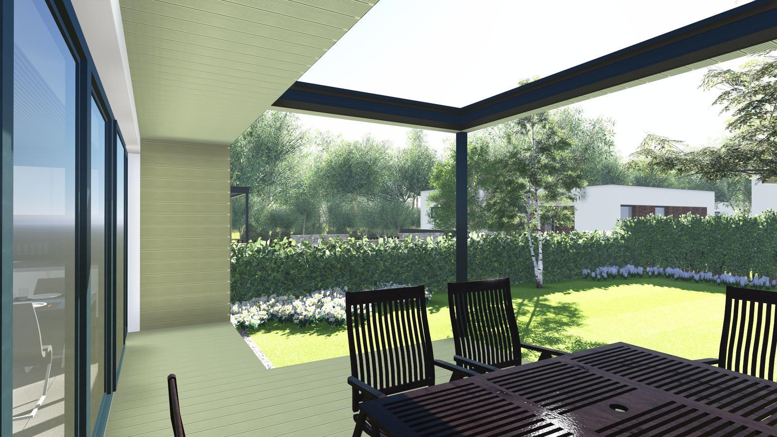 Príjemné posedenie na ďalšej terase prestrešenej sklom - Viac foto na Facebook - Prirodnydom.com