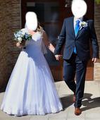 Svadobné  šaty pre nevestu s väčšími prsiami, 44