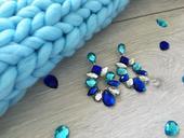 Modré visiace náušnice Emma,