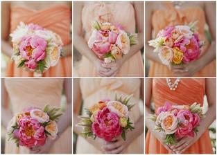Tenhle obrázek je tu vlastně spíš kvůli těm šatům pro družičky, ale i ty květiny jsou nádherné! ^^