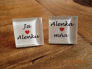 manžetové gombíky pre ženícha