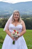 Svatební šaty vel.48-56, 48