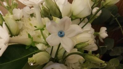 detail svatební kytky