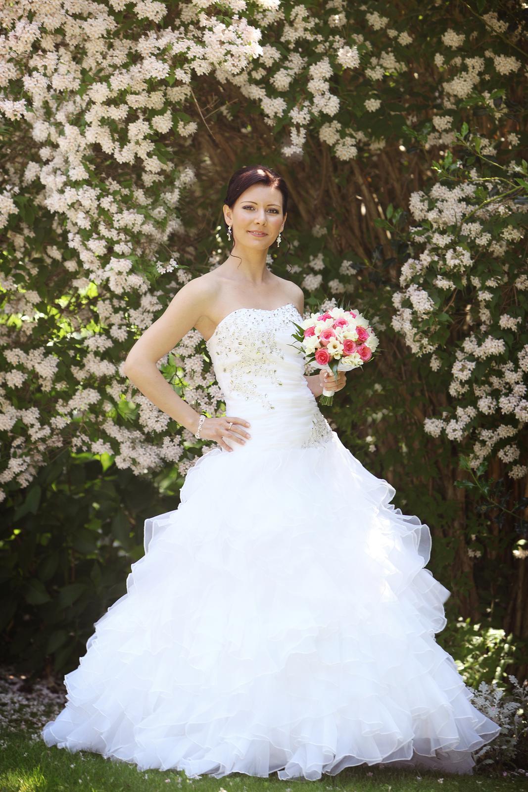 Svadobné šaty pre útle, nižšie nevesty 32-36 - Obrázok č. 1