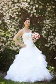 Svadobné šaty pre útle, nižšie nevesty 32-36, 34