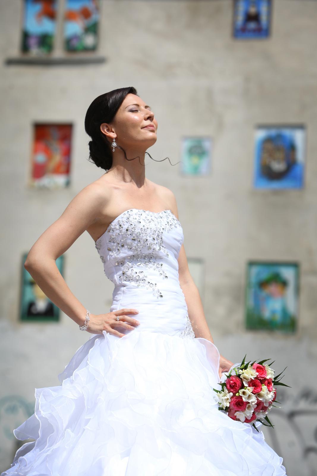 Svadobné šaty pre útle, nižšie nevesty 32-36 - Obrázok č. 3