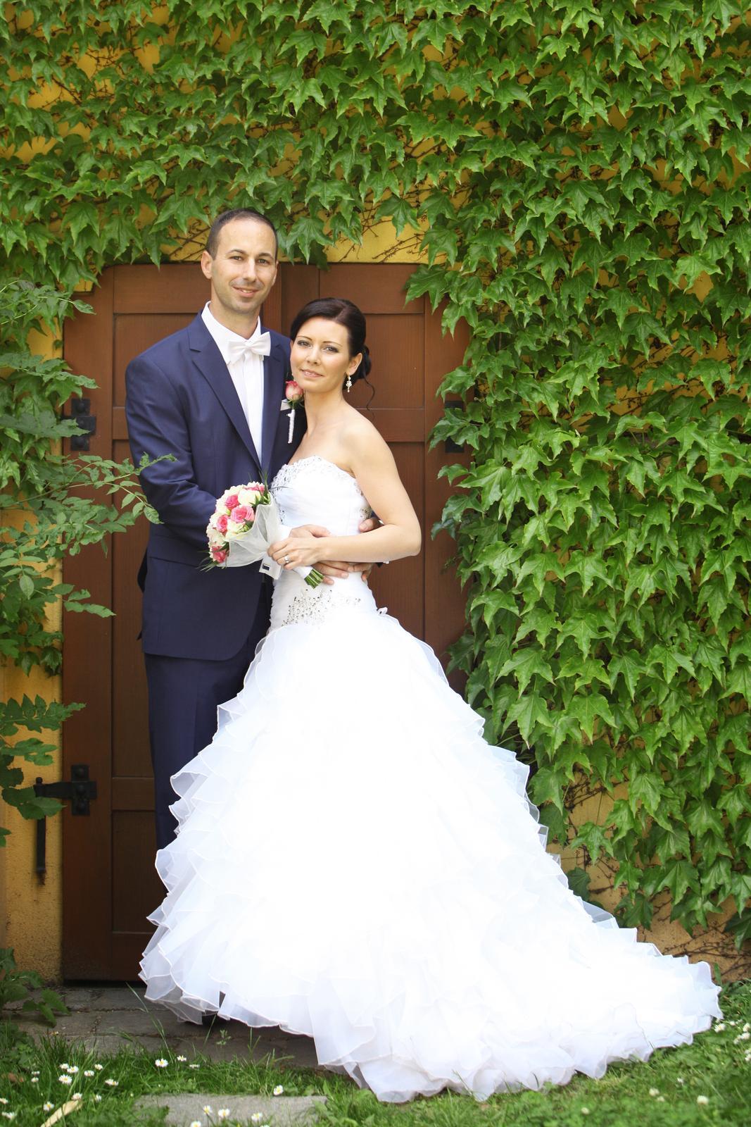Svadobné šaty pre útle, nižšie nevesty 32-36 - Obrázok č. 4