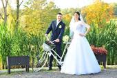 Svadobné šaty v. 34-38 + rôzne doplnky v cene, 36
