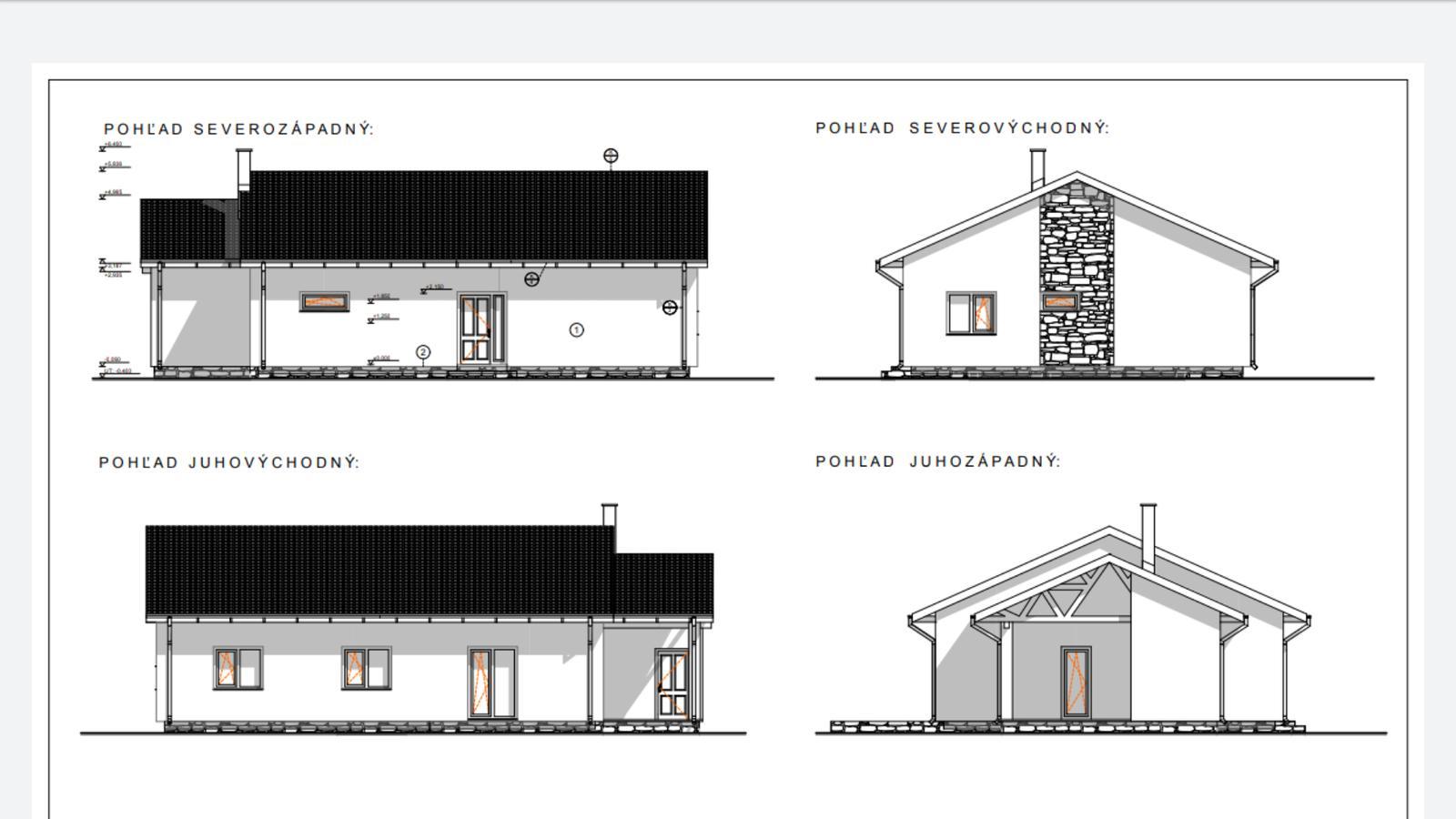 Náš Dom základy na XPS - Pohľady