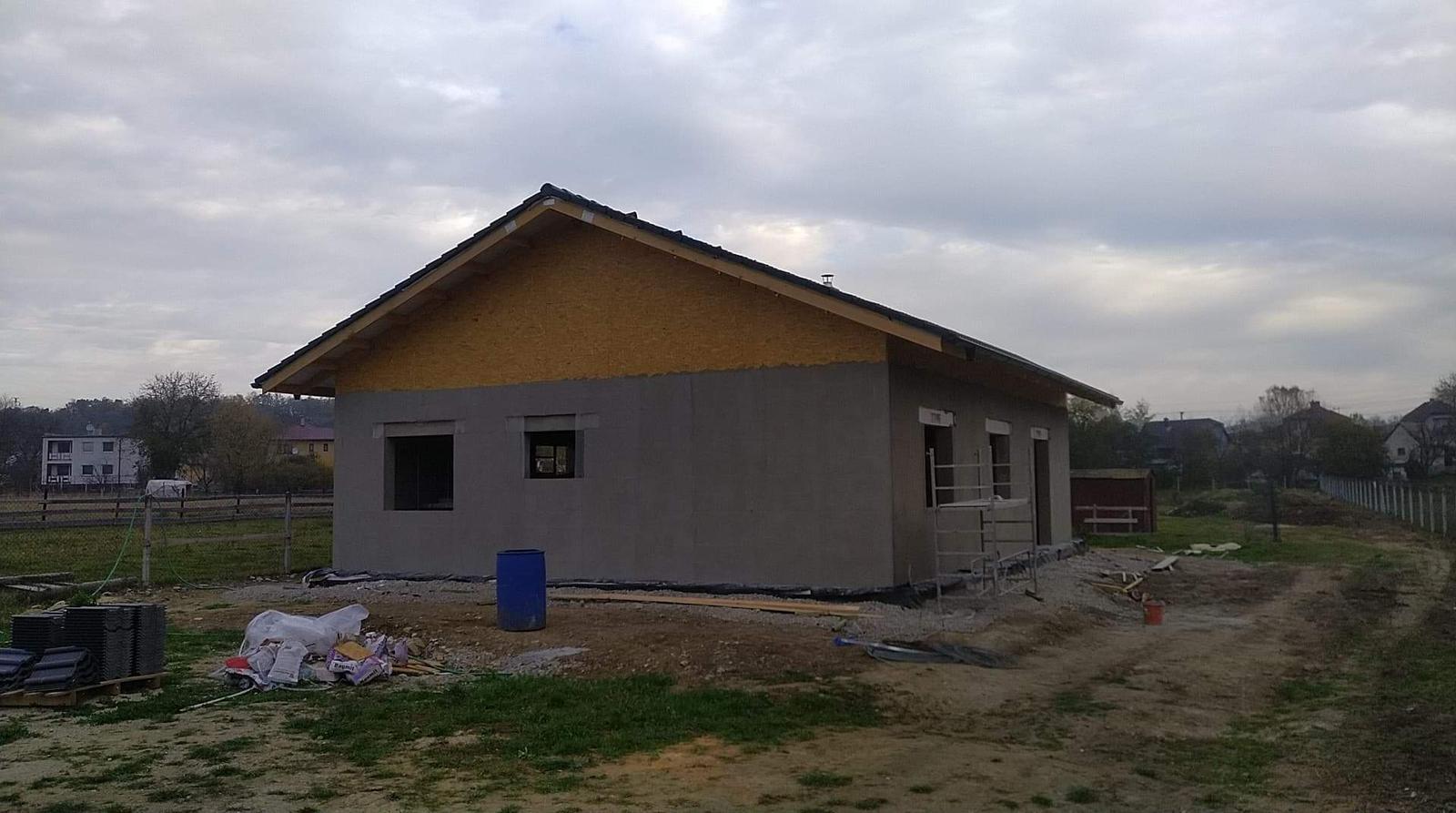 Náš Dom základy na XPS - Zimná prestávka nech stavba vymrzne
