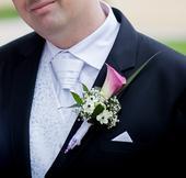 Svatební set - vesta, regata a kapesníček, 60