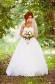 Svadobné šaty s kamienkovym korzetom, 38