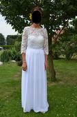 Svatební šaty s krajkou 36-38, 36