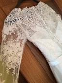 Svadobné šaty šité na mieru, jedičné., 38