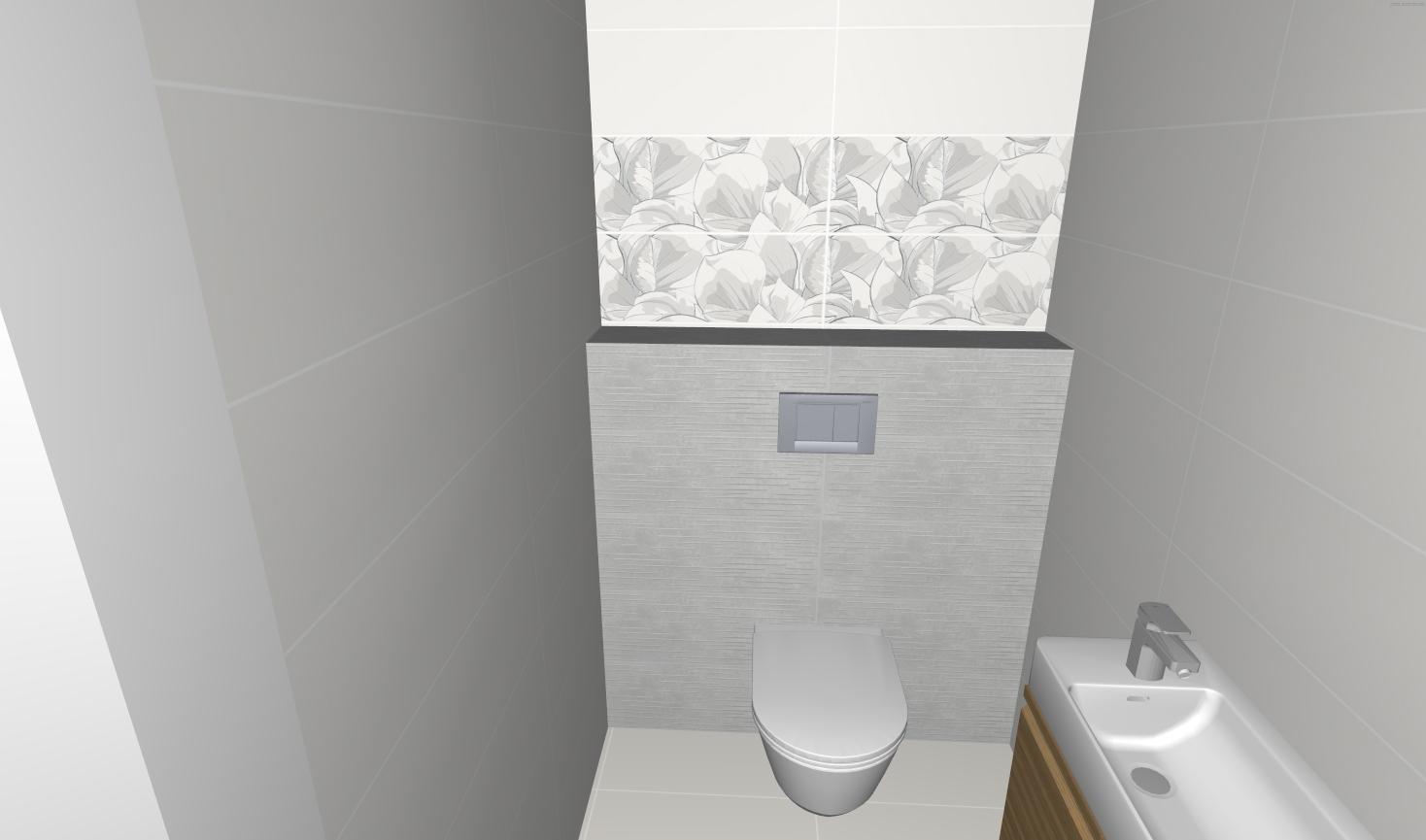 Návrh WC + Kúpelňa - Obrázok č. 1