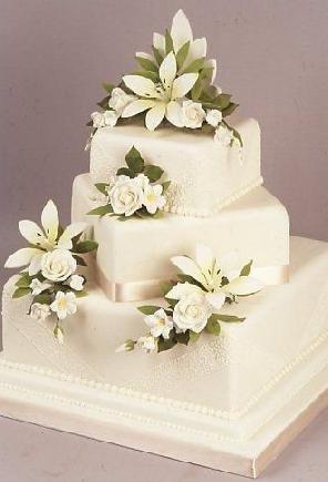 Dortíky a kytičky - TENTO - ale budou tam bíle růže (živé)