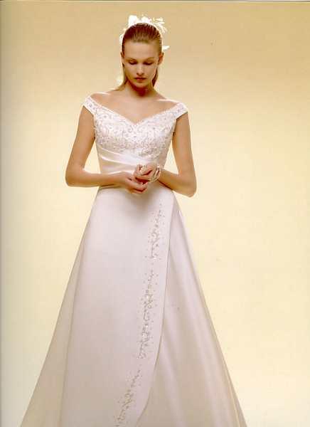 Skúšanie svadobných šiat - šaty Anna Garden z katalogu