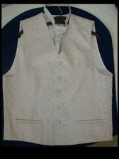 Oblečenie pre ženícha: vesta s viazankou,...