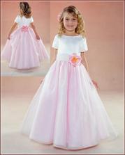 Predloha na šaty pre malú družičku