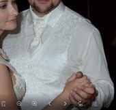 Svadobna vesta + kravata+ kosela, 54