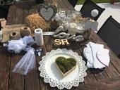 Svatební set - přírodní ,