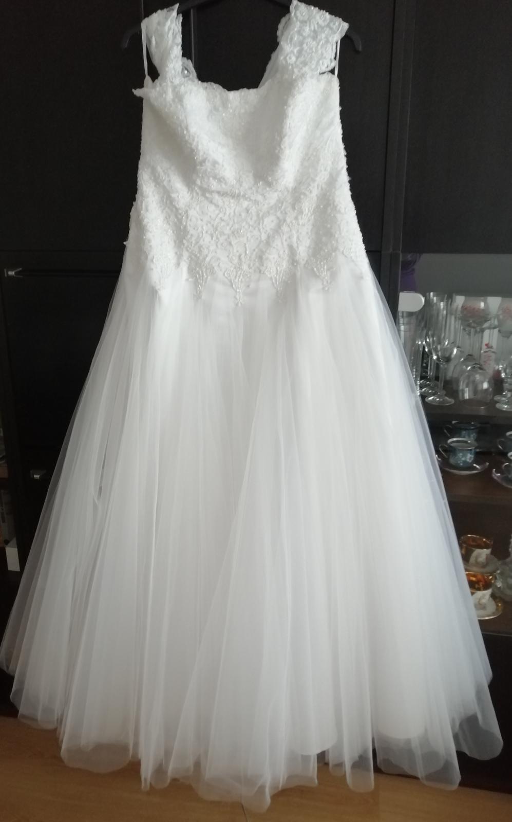 Svadobné šaty veľ. až 52 - Obrázok č. 1