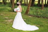 Svatební šaty šampáň, 38