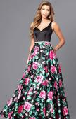 Čierne šaty s kvetmi, L