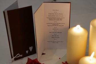 Svadobné menu, len v zeleno bielej