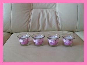 svícny na stůl po úpravě (po svatbě budu prodávat, mám jich 12 ks)