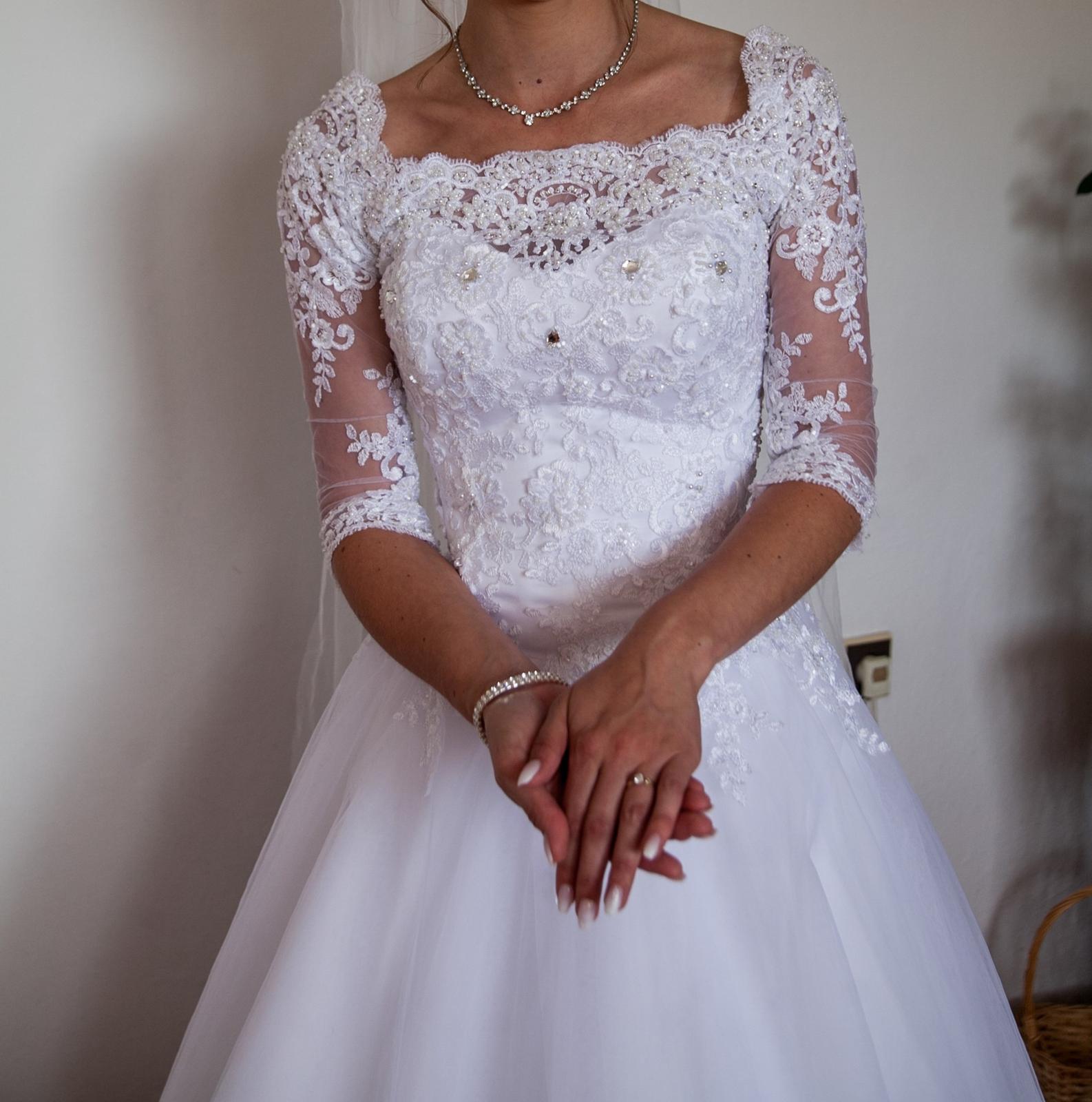 Svadobné šaty 32-34 - Obrázok č. 4