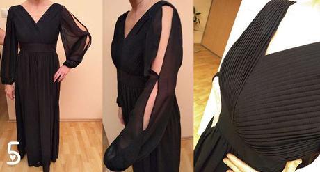 Spoločenské šaty so zaujímavým rukávom - Obrázok č. 1