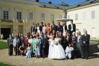 společné foto (all the people present at the ceremony)