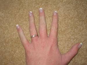zásnubní prstýnek jsem dostala na Vánoce..