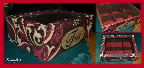 Decoupage krabička na čaj