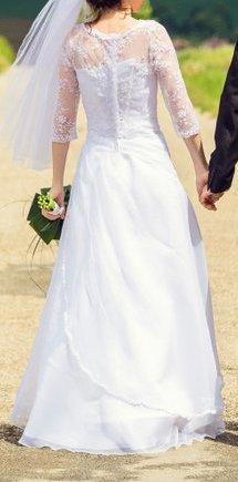 Svadobné šaty s čipkou - Obrázok č. 2